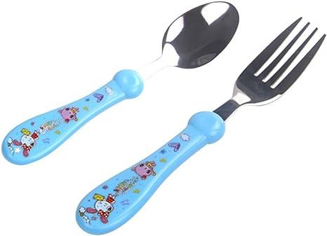 BESTonZON Juego de Cubiertos para niños Tenedores cucharas ...