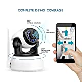 Dollermy Monitor Camera,720P HD Home WiFi Wireless Security Surveillance Camera with Motion Detection Pan/Tilt, 2 Way Audio and Night Vision Baby Monitor