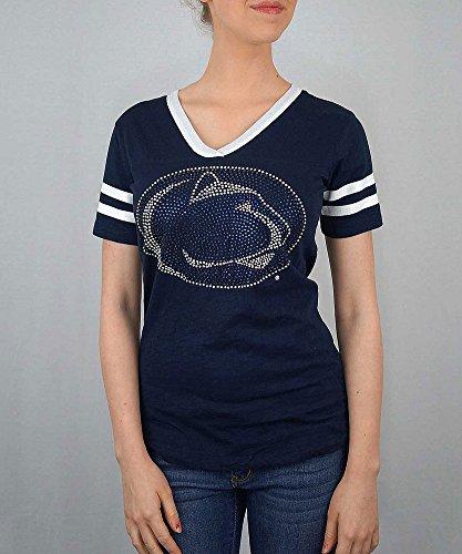 Penn State Nittany Lions Women's TShirt Captain Navy - S (Tee State Glitter)