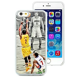 Personalized Iphone 6 Case Design with Kyrie Irving Iphone 6th 4.7 Inch TPU White Cell Phone Case