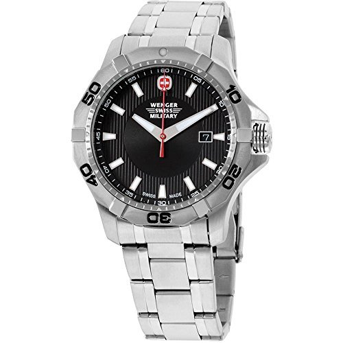 Wenger-Swiss-Military-Black-Dial-Stainless-Steel-Mens-Watch-011241201C