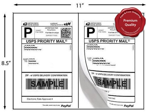 4000 Half Sheet Shipping Labels for Laser/InkJet 5-1/2