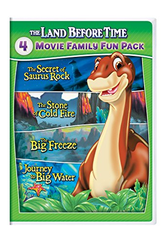 The Land Before Time VI-IX 4-Movie Family Fun Pack (The Secret of Saurus Rock / The Stone of Cold Fire / The Big Freeze / Journey to Big Water) (Dvd Set Before Time Land)