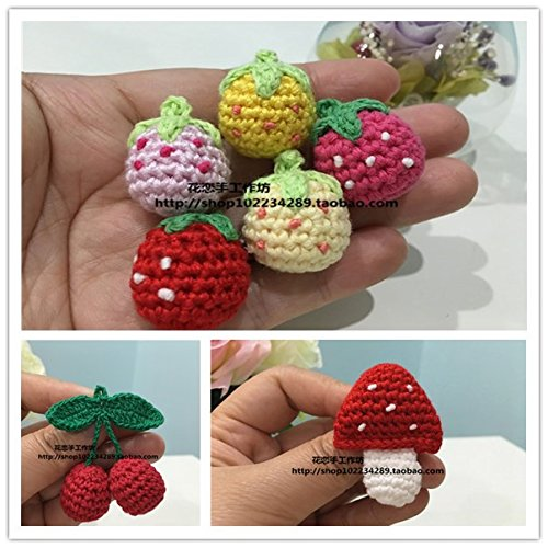 Custom Sen female line of small fresh and lovely small mushroom crochet yarn strawberry cherry brooch corsage pins jewelry accessories