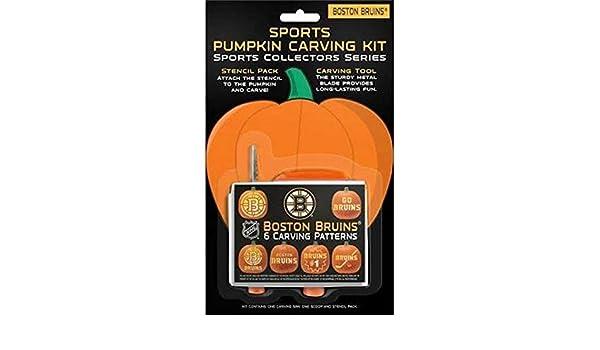 Boelter Brands TOP15HKYBOSPUM NHL Boston Bruins Pumpkin Carving Kit 6 Stencils Orange Amazonca Sports Outdoors
