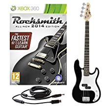Rocksmith 2014 Xbox 360 + LA Bass Guitar by Gear4music Black
