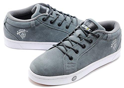 Onemix Heren Skate Schoenen Grijs / Wit