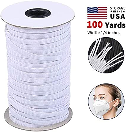 Amazon Com Elastic Bands For Face Mask Braided Elastic Cord For