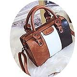 Handbags PU Leather Patchwork Ladies Messenger Shoulder Bag Female Sac Main