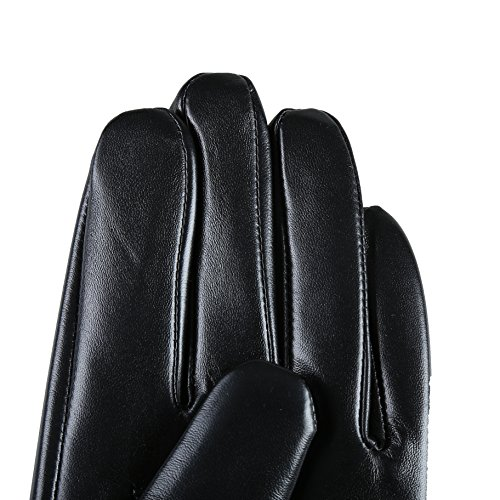 MarSue Men's Touchscreen Winter Real Leather Gloves Full-Hand by MarSue (Image #4)