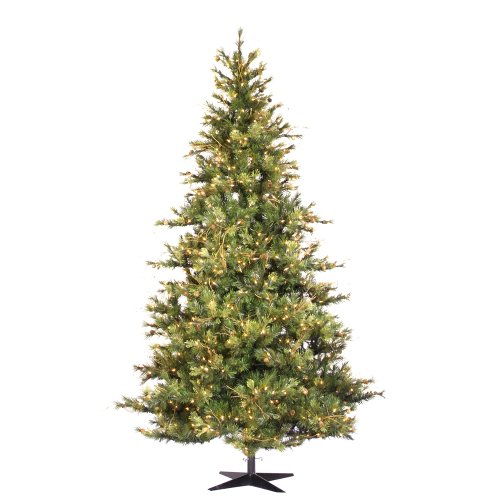 Vickerman 75' Slim Mixed Country Pine Artificial Christmas Tree with 650 Clear lights