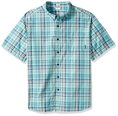 Columbia Men's Big Rapid Rivers Ii Big & Tall Short Sleeve Shirt, Night Shadow Plaid, X-Large Tall