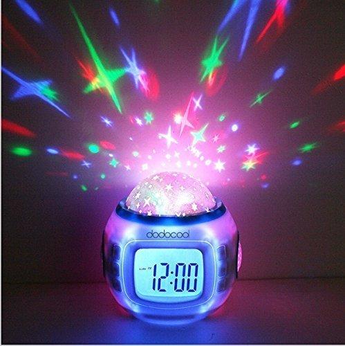 Desktop Table Clocks Music Starry Star Sky Projection Alarm