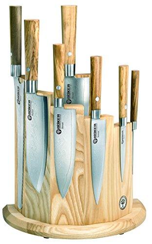 BOKER 130445SET Damascus Olive Set, - Olive Knife Kitchen