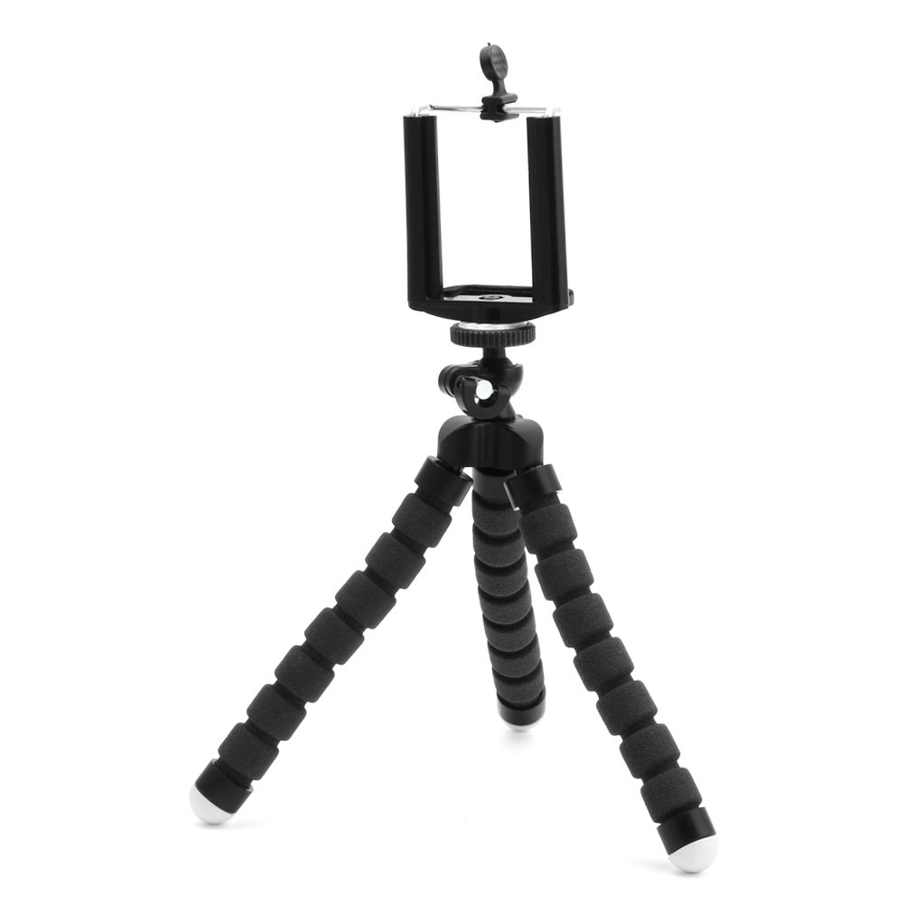 Webcam /Noir Octopus Style Compact Portable and Adjustable Tripod Stand with Mount Holder for Smartphone Mobile Cell Phone/ Housse Support Dairy Boutique Flexible Mini tr/épied Camera