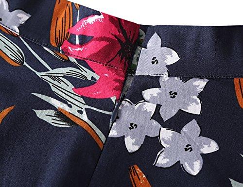 mi A Florales Line Imprimes 1 FASHION vases fleur Femmes Longues DJT Jupes Bleu Vintage HRqaxtT