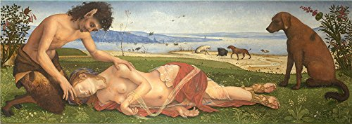 Oil Painting 'A Satyr Mourning Over A Nymph 1495, Piero Di Cosimo' 10 x 28 inch / 25 x 72 cm , on High Definition HD canvas prints is for Gifts And Garage, Kitchen And Study Room Decoration