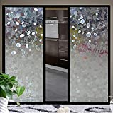 bofeifs Privacy Window Film Glass 3D Static Cling No-glue Frosted Glass Decorative Pebble Vinyl Static Cling Film Sticker for Kitchen Home Bedroom Office 17.7In. X 78.7In. (45 x 200cm)