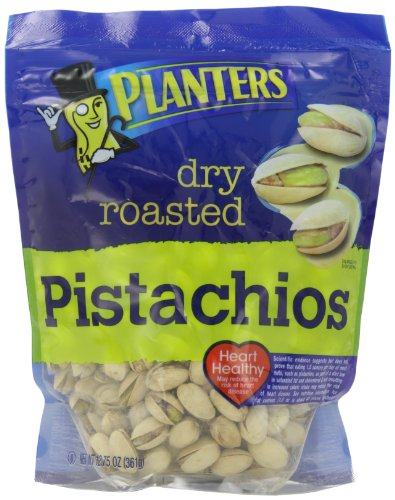 Planters Spiced Dry Roasted Pistachios (12.75 oz Canister, Pack of 3)