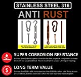 AZEXCEL String Light Hanging Kit. Stainless Steel