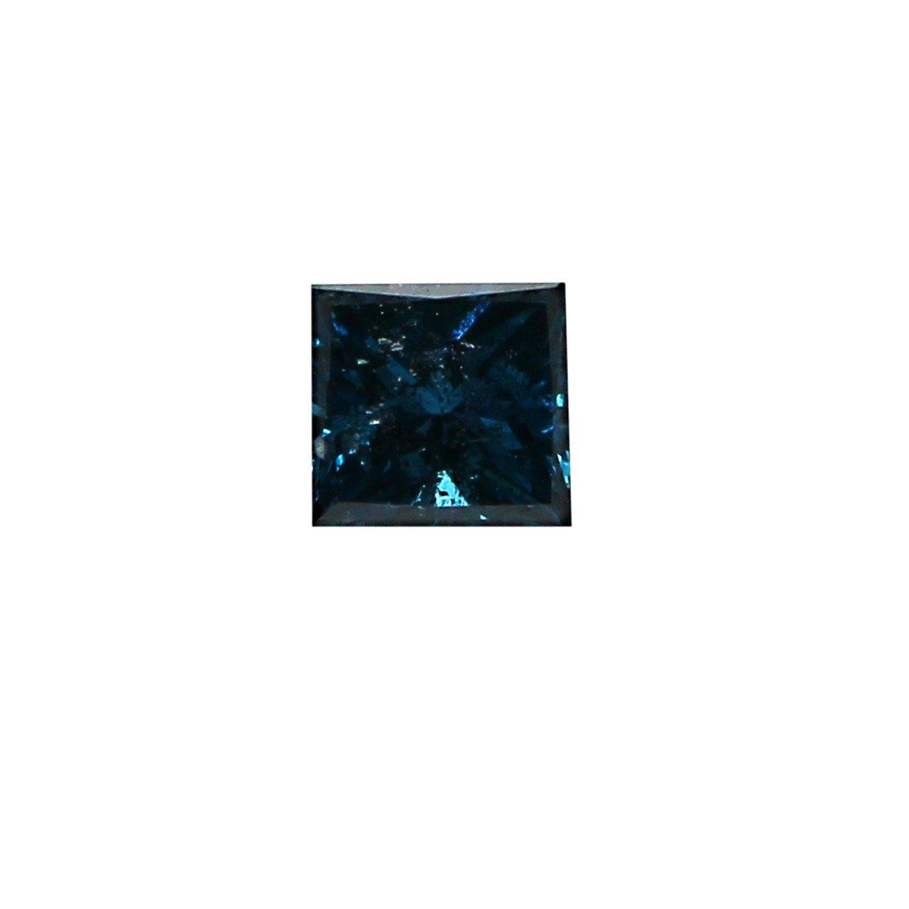 Jewel Zone US 2.5 mm Princess Cut Blue Diamond SI2 Clarity 10 Pcs Lot (1 Ct)