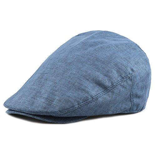 Ivy Linen (The Hat Depot New High Quality Linen Paisley Lining Cool Newsboy Ivy Hat (L/XL, Blue))