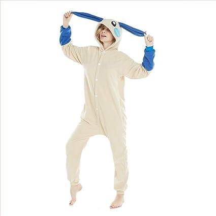 HLDUYIN Pijamas para Adultos Unisex, Ropa de Dormir de Navidad Cosplay Unos con Capucha de