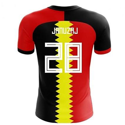 dcc435f162f Amazon.com : Airosportswear 2018-2019 Belgium Flag Concept Football Soccer  T-Shirt Jersey (Adnan Januzaj 28) - Kids : Sports & Outdoors