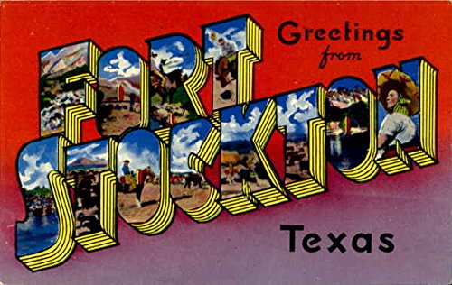 Greetings from fort stockton stockton texas original vintage greetings from fort stockton stockton texas original vintage postcard m4hsunfo