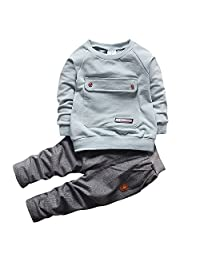 WAYNE FINKELSTEIN Boys Fall Cotton Long Sleeve 2 Pieces Clothing Sets