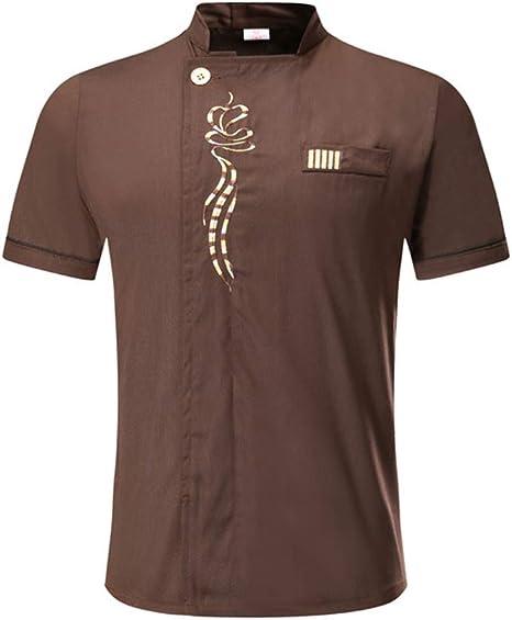 WYCcaseA Camisa de Cocinero Camiseta Manga Corta Unisexo con ...