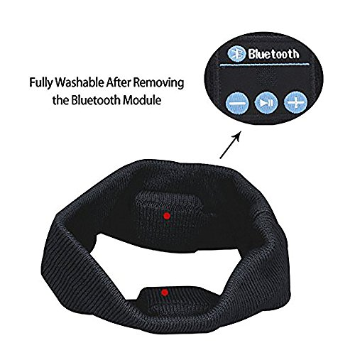 Bluetooth Headband,Engmoo Unisex Knit Wireless V4.1 Bluetooth Headband Headphones Built in Mic for Outdoor Sports Christmas Tech Gifts for Teen Young Boys Girls Families(Black)