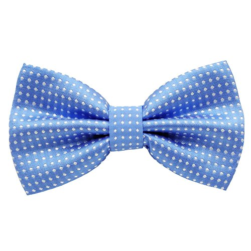 Mens Classic Polyester Polka Dots Bow Ties Pre-tied (Light ()