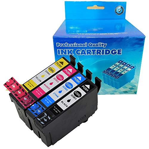 B-T Compatible Ink Cartridge Replacement for Epson T288 T2881 288-I T288XL Compatible with Expression XP-430 XP-440 XP-330 XP-340 XP-434 XP-446 (1 Black, 1 Cyan, 1 Magenta, 1 Yellow,) 4 Pack (Printer Ink Compatible Epson)