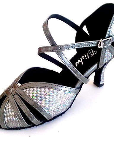 Sandales Femmes mode moderne sur mesure pour l'Amérique latine sandale Talon personnalisés Lady Chaussures de Danse Plus de couleurs,NOUS,Gris4-4.5/EU34/UK2-2.5/CN33