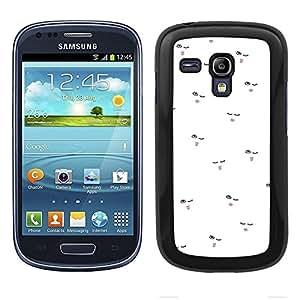 Funda carcasa para Samsung Galaxy S3 Mini diseño ilustración estampado labios malva borde negro