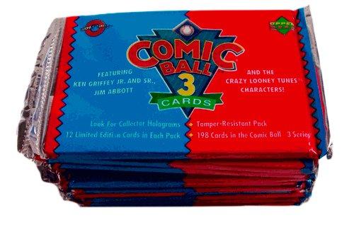 (12) 1992 Upper Deck Comic Ball Series 3 - 12 Card Packs New Sealed
