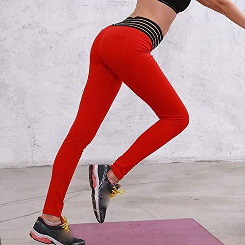 Pantaloni Donne Donna Ghette Gli In Esecuzione Allungare Yoga Sport Rosso Leggings Da Vita Hight Fitness qO0Bwf