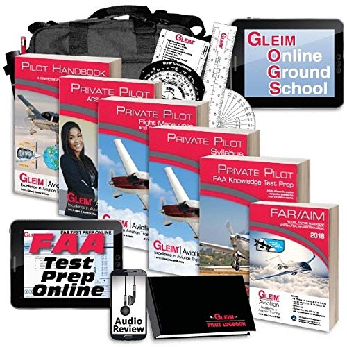 Gleim Deluxe Private Pilot Kit - Online Ground School - Audio Review - CURRENT (Best Private Pilot Training Kit)
