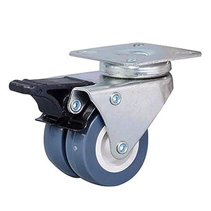 Ruedas universales, 4 unidades giratorias para lavadora, silenciador doble universal con congelador de rueda