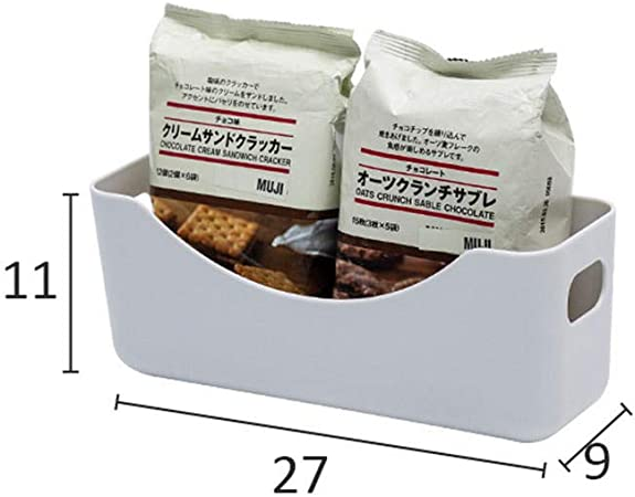 SGHTYJ Caja de Almacenamiento de Escritorio Baño Cocina Canasta de Almacenamiento de plástico Snacks Canasta de Almacenamiento Gris: Amazon.es: Hogar