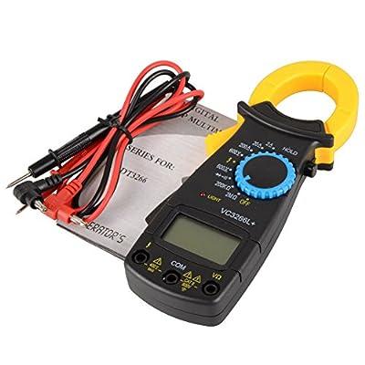 ASDOMO Portable AC DC Voltage LCD Digital Clamp Multimeter Electronic Tester Meter VC3266L Handheld Clamp Volt 600V Current Resistance Voltage