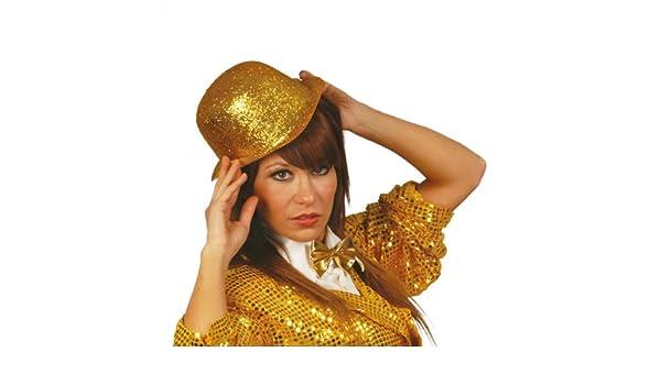 Guirca - Sombrero hongo (bombín), color dorado (13463): Amazon.es ...