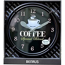 Benrus 10.86in Coffee Special Blend Wall Clock by M.Z.Berger & Co, Inc