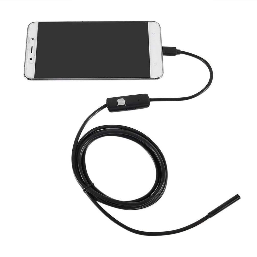 Impermeabile 720P 5.5mm 2M Endoscopio per ispezione periscopio per PC Android (Colore: nero) Sairis
