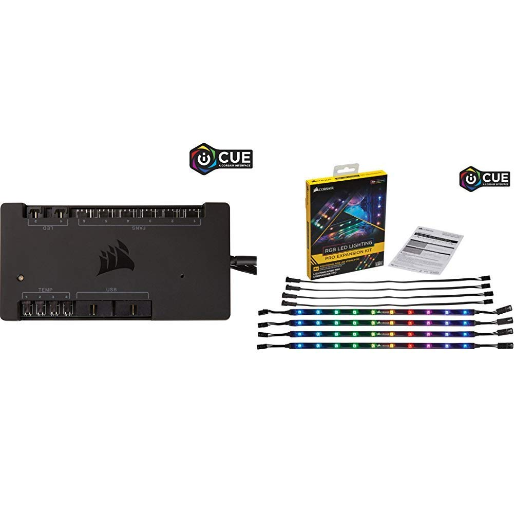 CORSAIR iCUE Commander PRO Smart RGB Lighting and Fan Speed Controller with RGB LED Lighting PRO Expansion Kit by Corsair (Image #1)