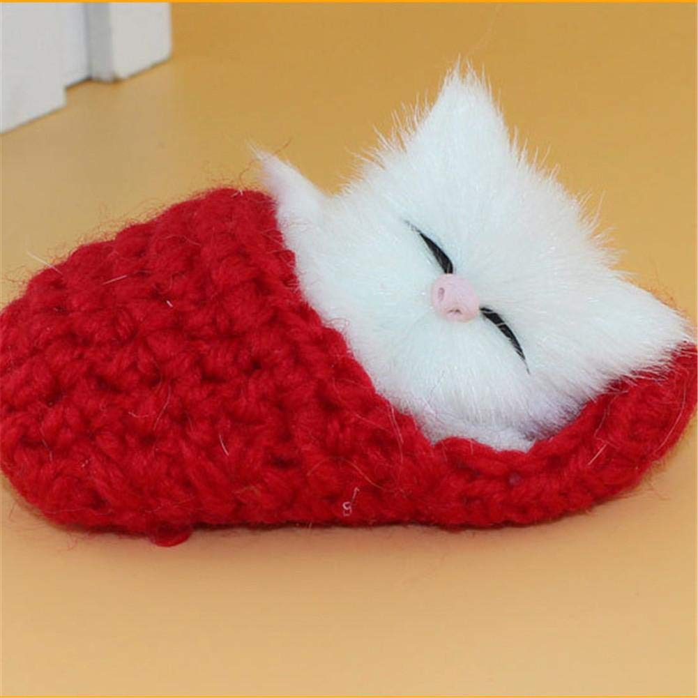 Artificial Cute Plush Toys Ringtone Slippers & Squinting Kitten Shaped Plush Dolls Calmson