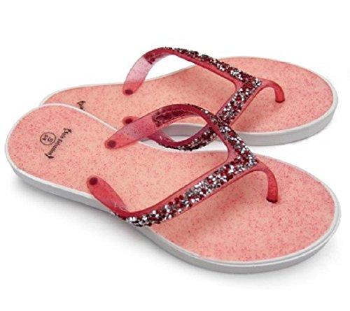 Diny Maison & Style Dames Bijoux Sandales Rouge