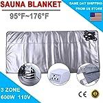 SuxiDi 3 Zone Digital Far Infrared Slimming Sauna Blanket Weight Lose Detox Spa Summer