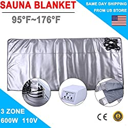 SuxiDi 3 Zone Digital Far Infrared Slimming Sauna Blanket Weight Lose Detox Spa Summer